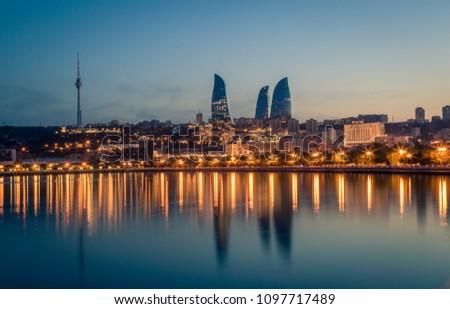 Sunset of Baku, Azerbaijan #1097717489
