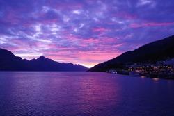 Sunset of Lake Wakatip, NewZeaLand