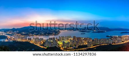 Sunset of Ma On Shan, Hong Kong Stok fotoğraf ©