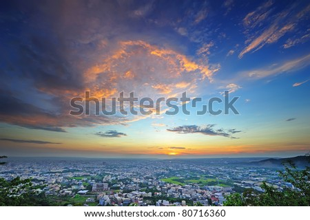 Sunset of my country , view from mountain. #80716360