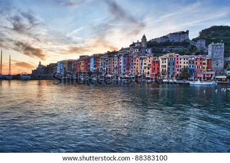 Sunset of .. Porto Venere Seaport