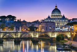 Sunset of Roma, Italy