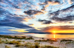 Sunset on a Baltic sea