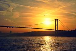 Sunset on a Bosphorus Channel, Istanbul, Turkey