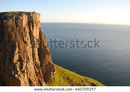 Sunset on a cliff