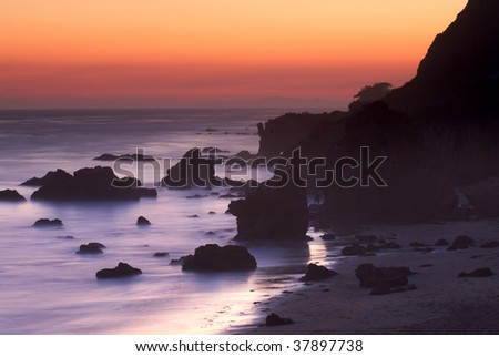 california beaches sunset. california beach in Malibu