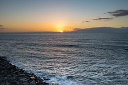 Sunset on Atlantic ocean, Tenerife, Canary islands, Spain.