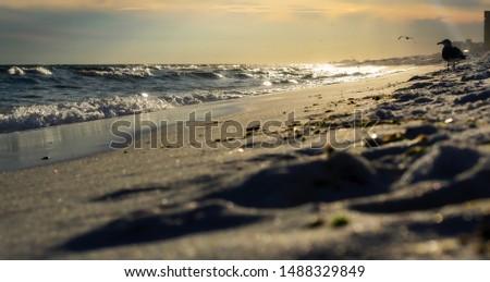 Sunset on Destin beach in Destin, FL
