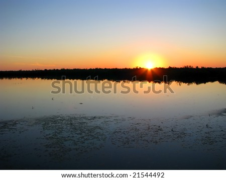 sunset on Ding Darling Wildlife Refuge Florida