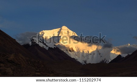 Sunset on Everest base camp