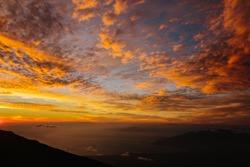 Sunset on Haleakala in Maui, Hawaii