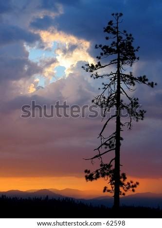 Sunset on Highway 36, northern California