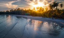 Sunset on Koh Kood island.