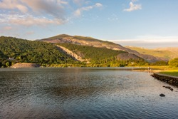 Sunset on Lake Padarn, Llanberis, North Wales