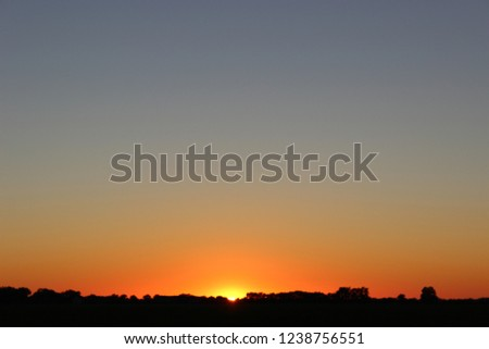 Sunset On Landscape