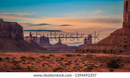 Sunset on Monument Valley, Monument Valley Arizona #1394492357