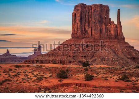 Sunset on Monument Valley, Monument Valley Arizona #1394492360
