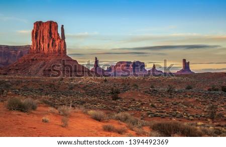 Sunset on Monument Valley, Monument Valley Arizona #1394492369