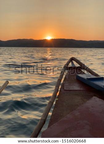 Sunset on pump boat Philippine Sea  #1516020668