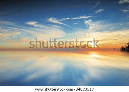 sunset on sea #34893517