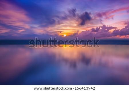 Sunset On Sea Thailand
