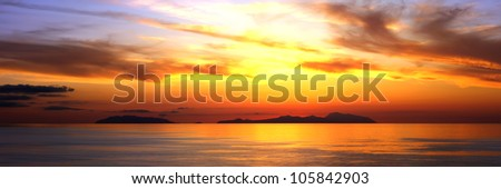 Sunset on the Aeolian islands #105842903