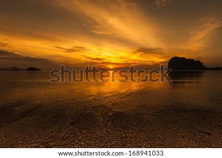 Sunset on the beach #168941033