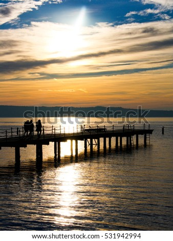 Sunset on the beach #531942994