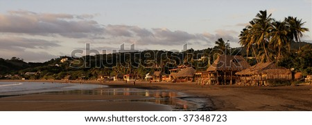 Sunset on the beach in San Juan del Sur, Nicaragua