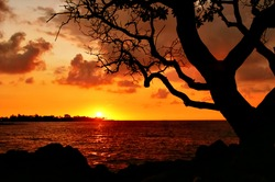 Sunset on the Big Island. Hawaii. USA