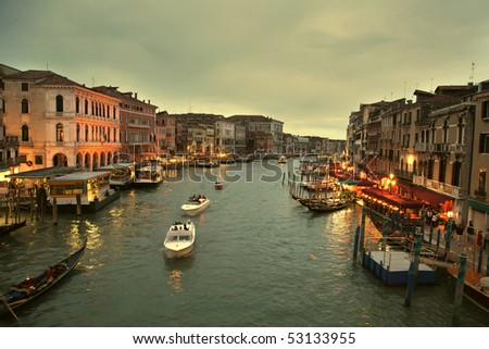 Sunset on the canal grande