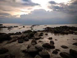 Sunset on the Dompak Island Beach
