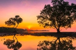 Sunset on the Lake,Nature Landscape