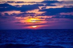 Sunset on the north coast beach - Alexandria, Egypt
