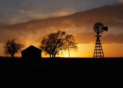 Sunset on the ranch