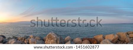 Sunset on the sea. Baltika