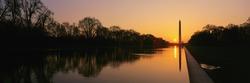 Sunset on the Washington Monument & reflecting pool