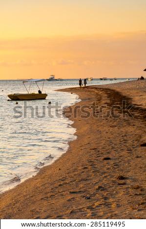 Sunset on the west coast of Mauritius