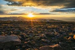 Sunset on top of Mount Flora, Colorado