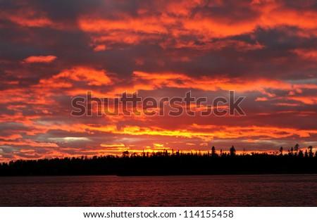 Sunset on Tuscarora Lake In the Boundary Waters
