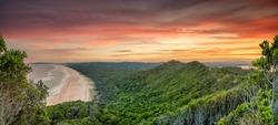 Sunset on Wategos Beach, Bryon Bay, New South Wales, Australia.