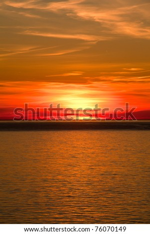 Sunset On Water