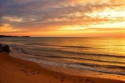 Sunset over Atlantic Ocean in Cape Breton, Nova Scotia, Canada