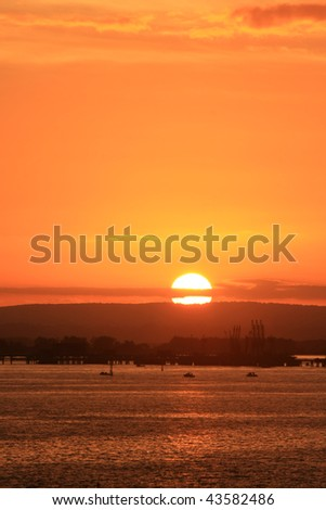 Sunset over Botany Bay, Sydney, Australia.
