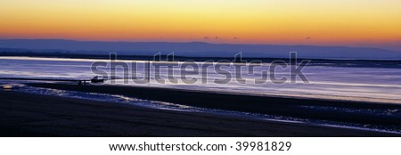 Sunset over Burnham-On-Sea Somerset
