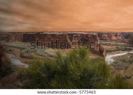 Sunset over Canyon de Chelly