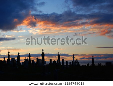 Cross on the dark sky background Images and Stock Photos
