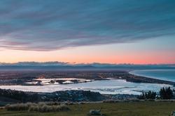Sunset over Christchurch, New Zealand