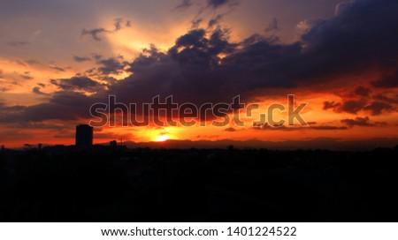 Sunset over Iloilo City, Philippines, Visayas #1401224522