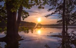 Sunset over Lake Lanier in Gainesville, Georgia